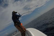Jigging derrière le Grand Récif