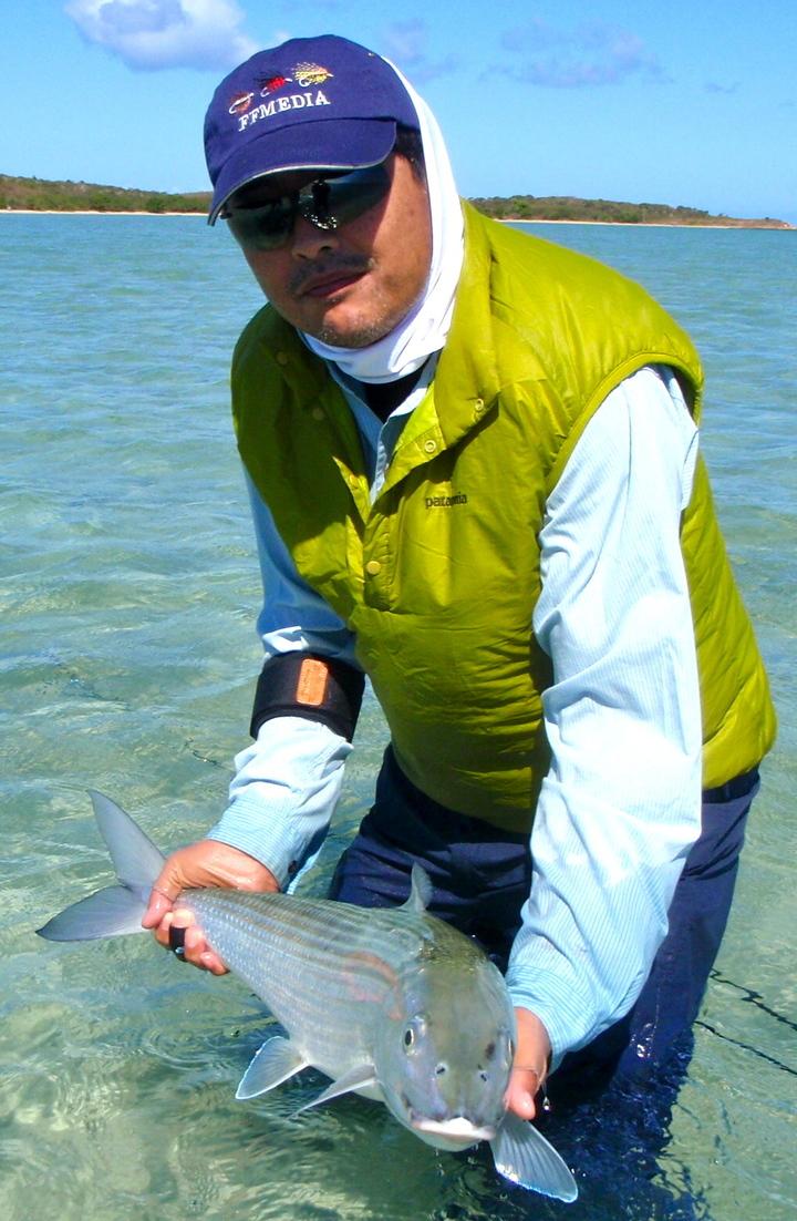 Heureux comme un japonais pour son premier bonefish